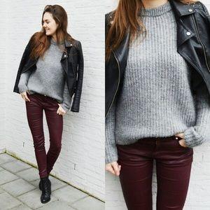 Zara Brown Faux Leather Skinny Jeans - 2